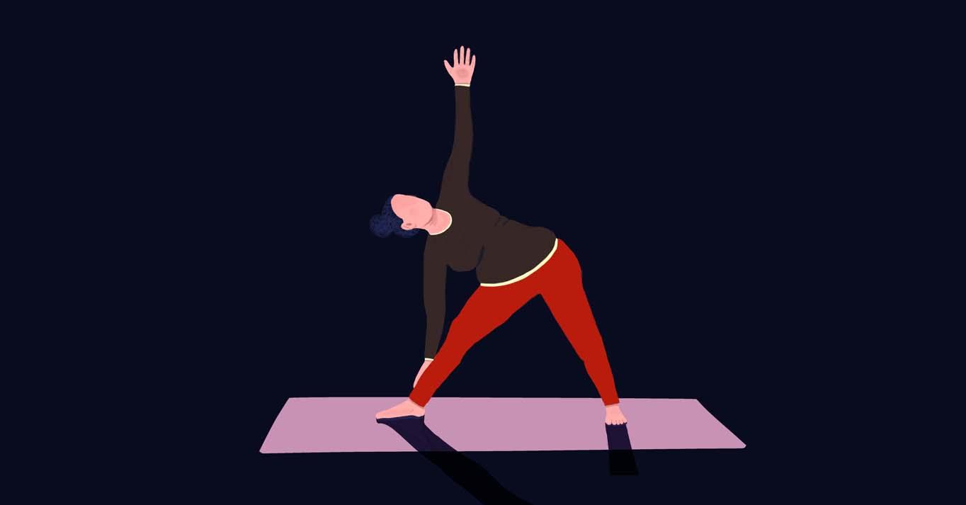 De Driehoek - yogahouding